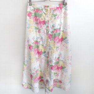 Ralph Lauren Vintage Midi Floral Skirt Size 6